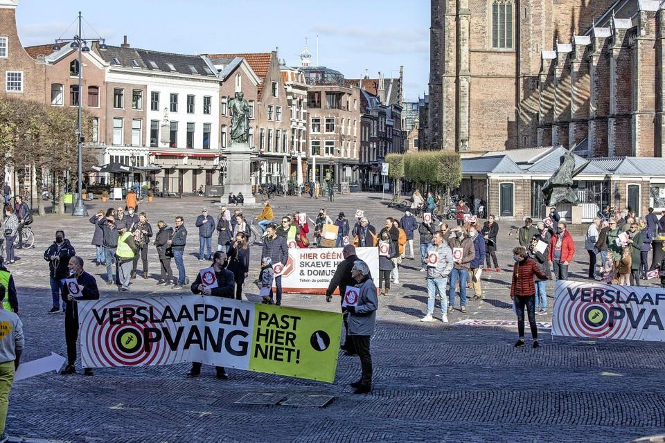 Demonstratie tegen plaatsing Skaeve Huse en Domus Plus