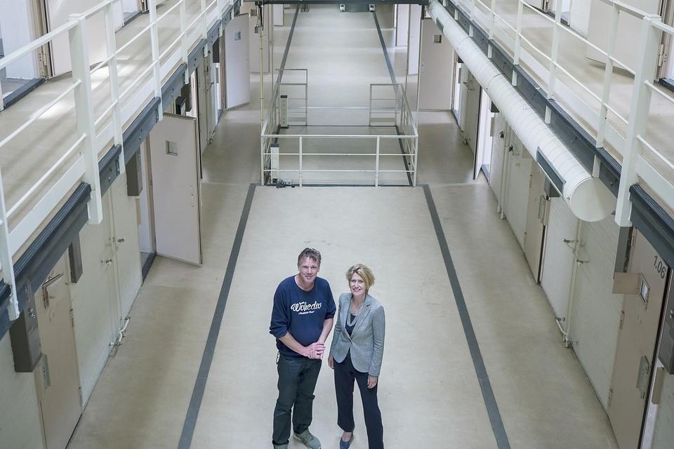 Het cellencomplex van de Vest straalt Rock en Roll uit, vinden Jacqueline van de Sande en Michael Struis