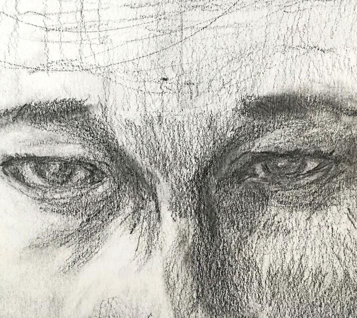 Detail van potloodwerk