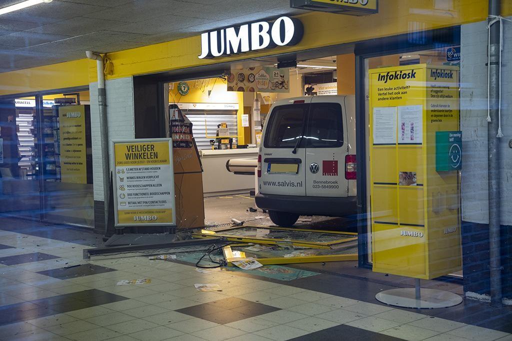 Ramkraak bij Jumbo in Haarlem, supermarkt voorlopig dicht
