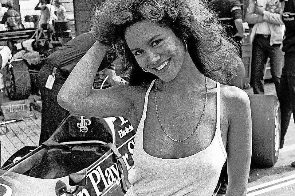 Shirley Mescher in 1984 bij de Grand Prix van Zandvoort.