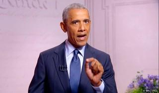 Oud-president Obama voert campagne voor Biden-Harris