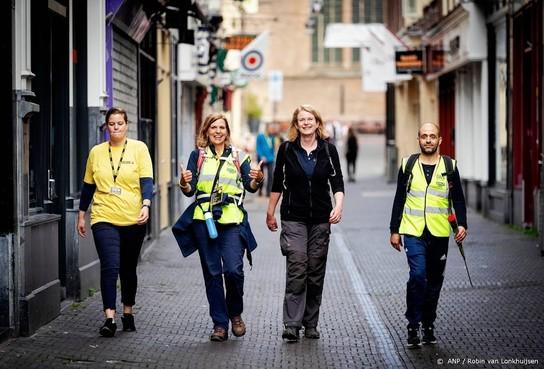 Deelnemers Nacht van Vluchteling over finish