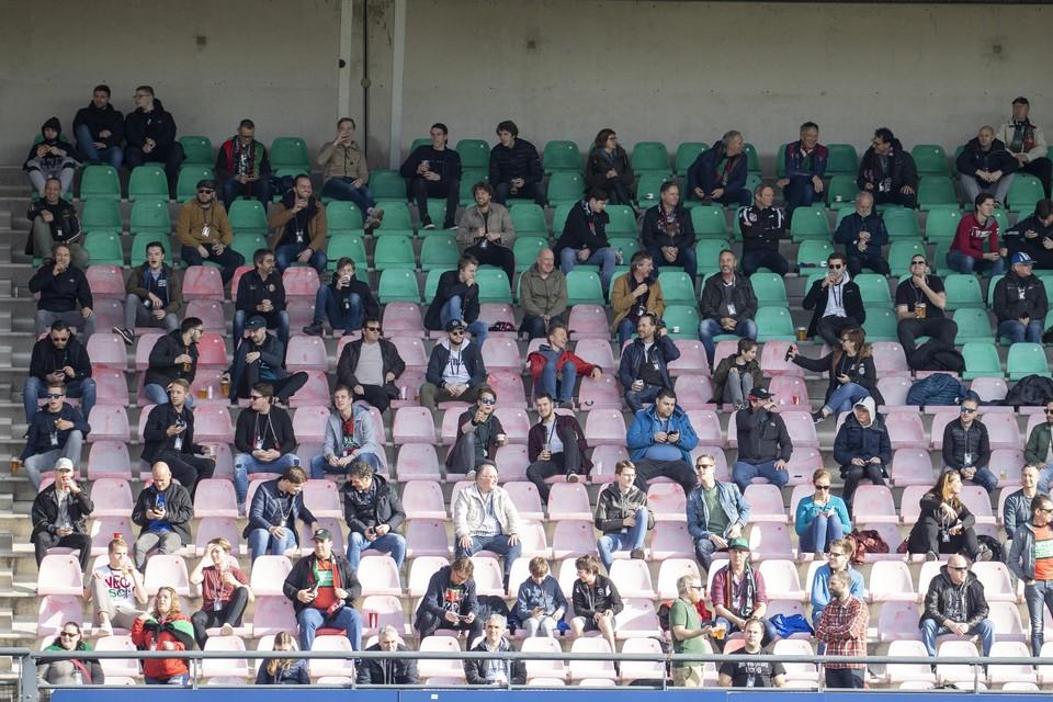 1153 toeschouwers kijken toe bij de eerste divisie-wedstrijd tussen NEC en De Graafschap.
