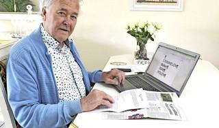 Adrie Winkelaar werd bijna slachtoffer van phishing. 'Ik zag mijn cursor over het scherm bewegen zonder dat ik iets deed'