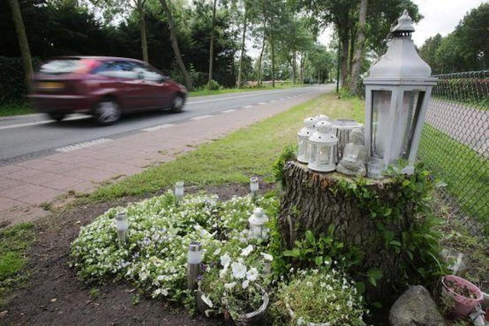 Monumentje voor de overleden Fleur Balkestein.