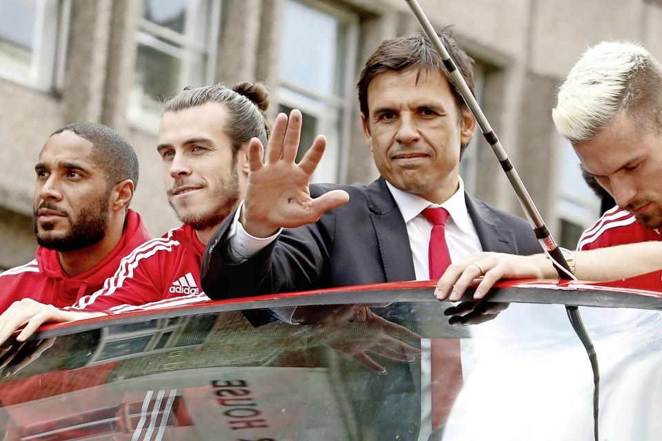 De bezongen helden van Wales: Gareth Bale en Cris Coleman.