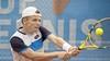 'Het kan in één week totaal omslaan', merkt tennisser Jesper de Jong uit Hoofddorp. Hij wint tot zijn eigen grote verbazing voor het eerst een challengertoernooi