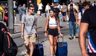 Ruim 70 procent minder buitenlandse toeristen in Nederland