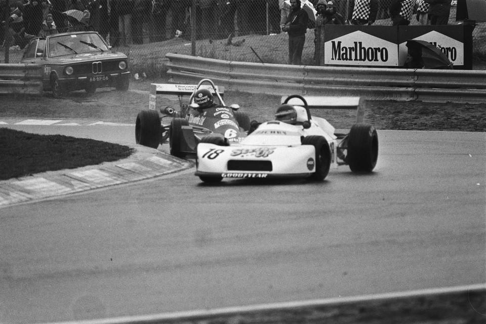 Jan Lammers in Zandvoort op weg naar de overwinning en het kampioenschap in de Formule 3 van 1978.