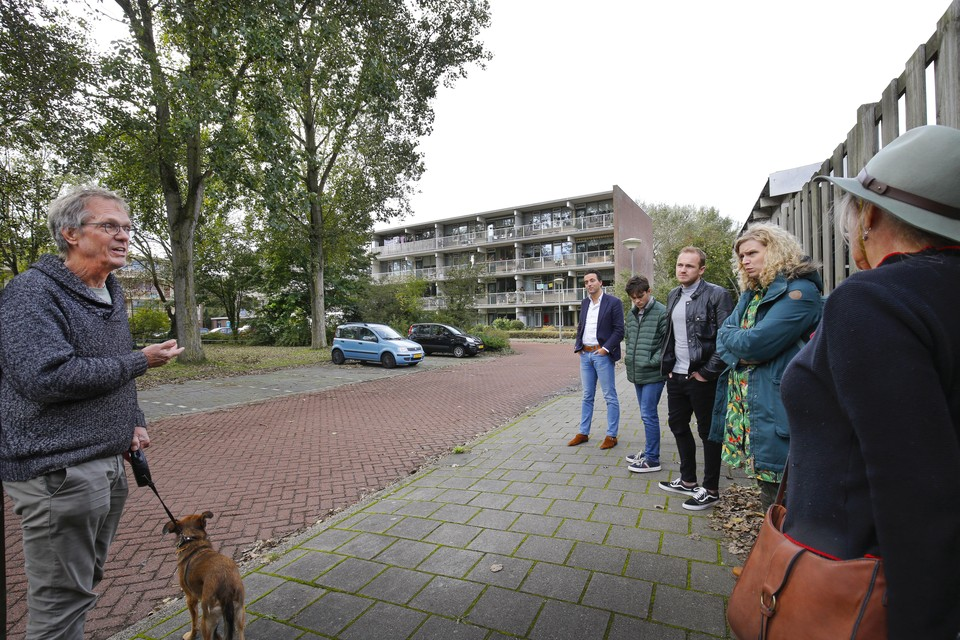 Om tot een nieuw bomenbeleidsplan gaat de gemeente Velsen met buurtbewoners in de Zeewijk in IJmuiden wandelingen.