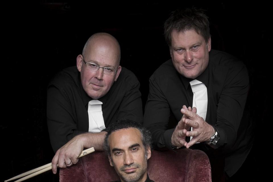 The Preacher Men met v.l.n.r. Chris Strik, Efraim Trujillo (in stoel) en Rob Mostert.