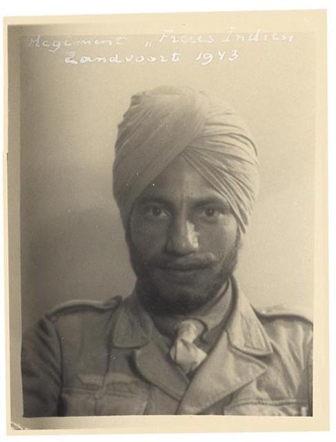 Indiase soldaat in Zandvoort in 1943.
