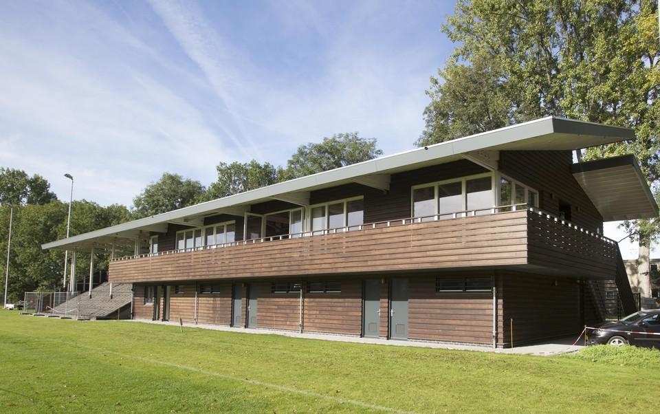 Clubhuis rugbyclub Haarlem, ontwerp Dam & Partners Architecten.