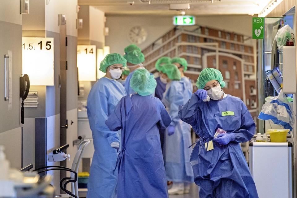 Het ziekenhuis tijdens een van de golven van de coronapandemie.