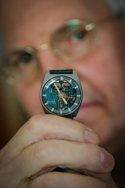 Martien Moolenschot uit Zwaag: 'Armstrong droeg deze Bulova'