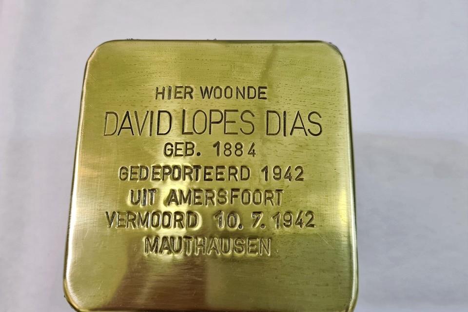De eerste steen die dit jaar geplaatst gaat worden is voor David Lopes Dias, voor en kort na de bezetting wethouder in Hilversum.