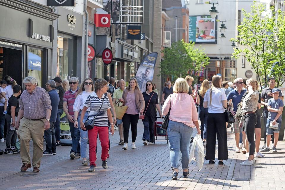 Ook in coronatijd werd er volop geshopt in het centrum van Hilversum.