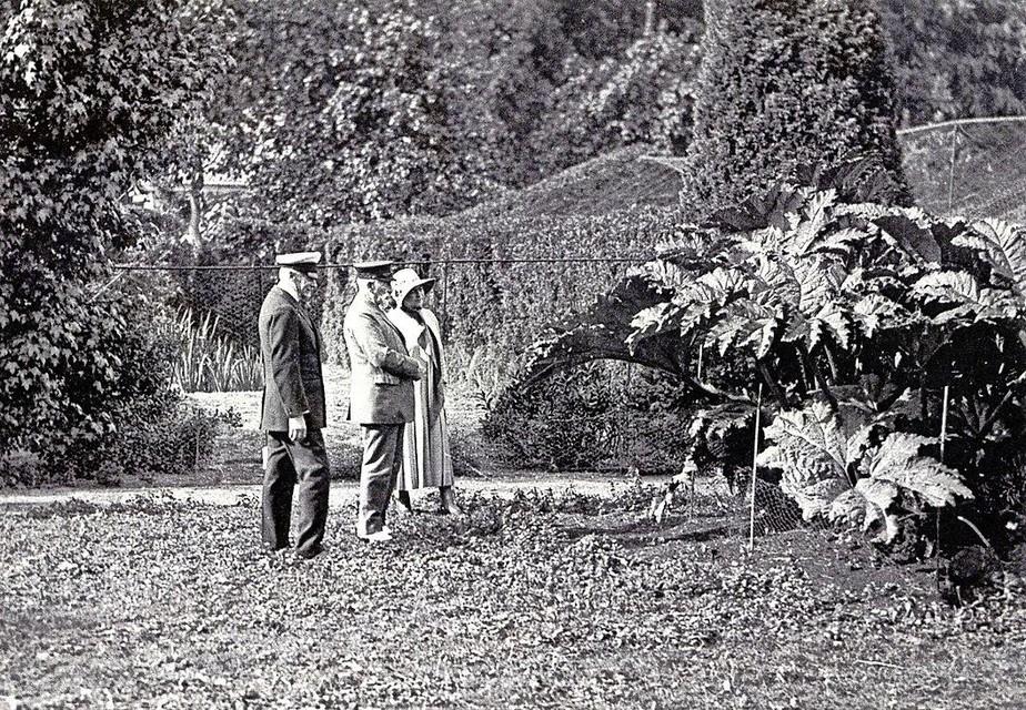Blaauw met keizer Wilhelm en keizerin Hermine