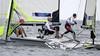 Haarlemse zeiler Lambriex zakt naar zevende plaats in 49er