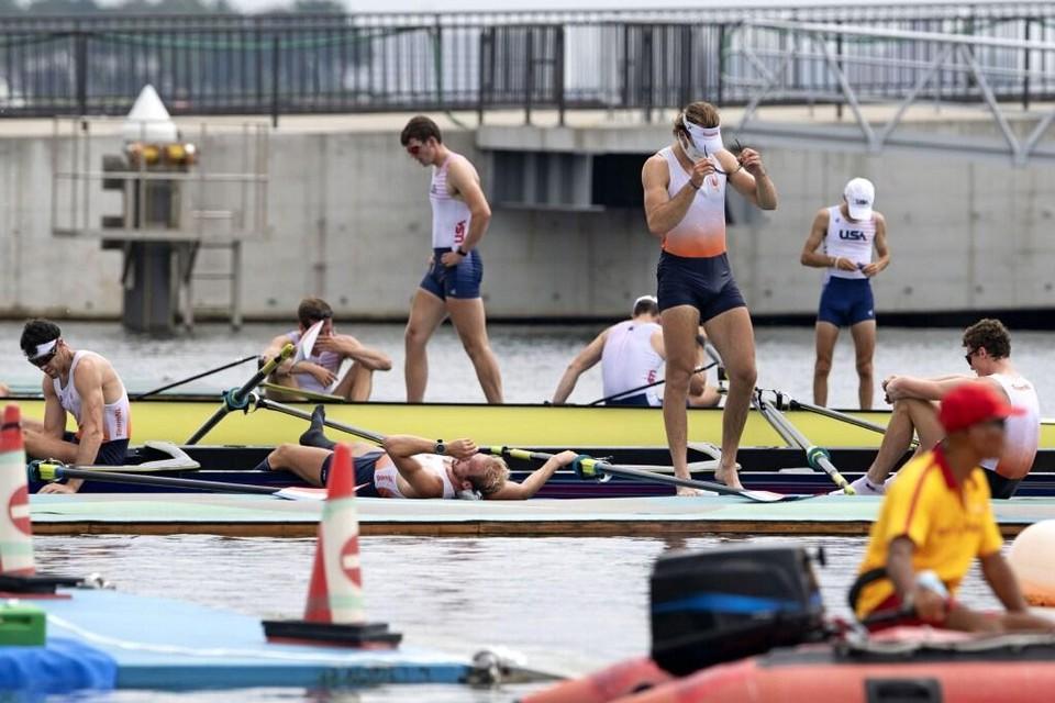 De Nederlandse roeiers deden geen moment mee om de medailles.