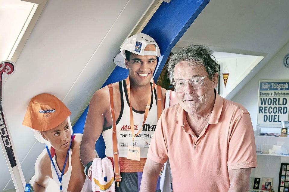 Maarten Westermann in zijn privémuseumpje op zolder.