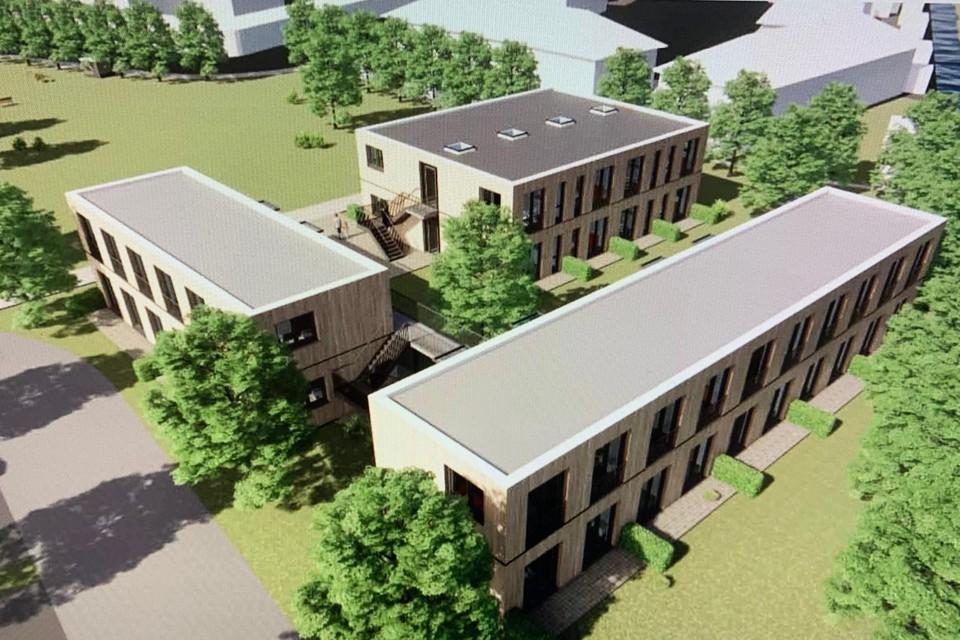 De toekomstige woningen op Blekersveld, ontworpen door architect Wouter Zaaijer.