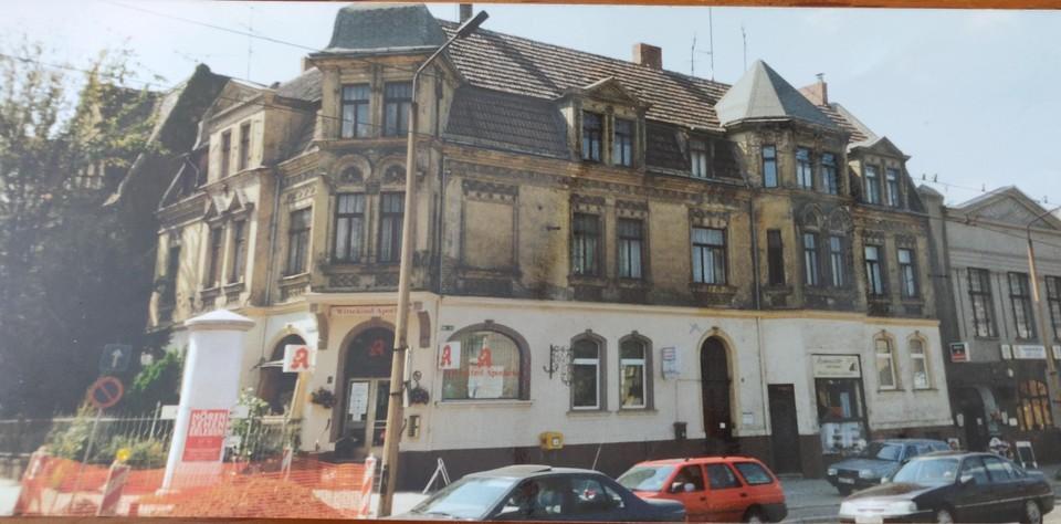 Het huis waar Dirk Brode en zijn familie woonden in Halle.