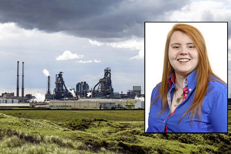 Tata Steel. Inzet: raadslid Kelly Uiterwijk.