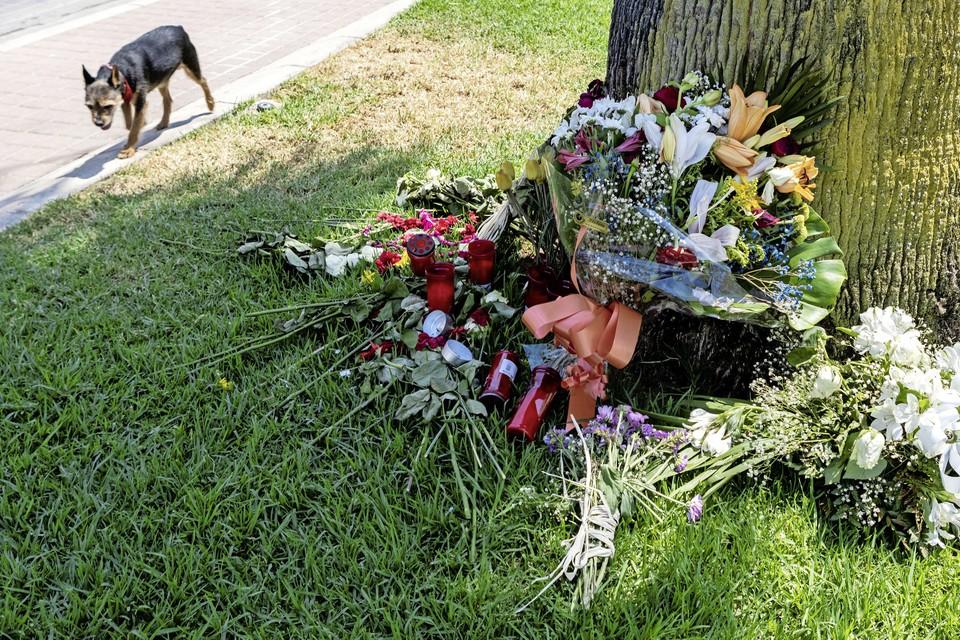 Bloemen op de plek waar Carlo Heuvelman zwaar werd mishandeld.