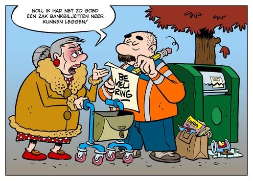 Oude tijdschriften naast en niet in de container levert mevrouw Kruyswijk boete én navordering op