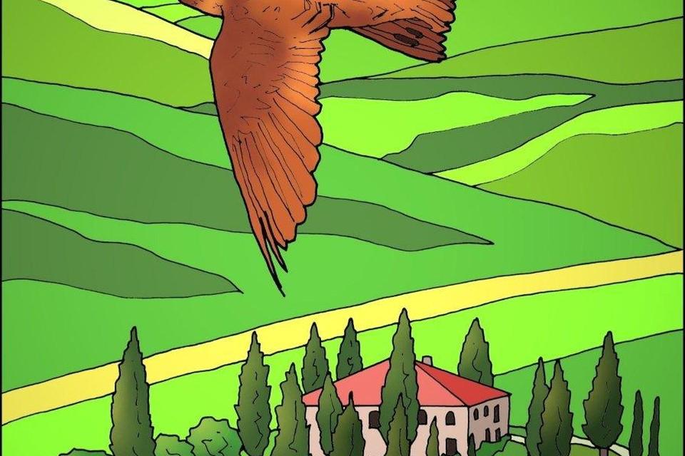 Toscane vanuit de lucht.